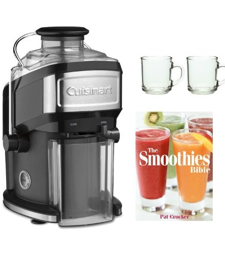 Cuisinart-CJE-500-Compact-Juice-Extractor-+-The-Smoothies-Bible-By-Pat-Crocker-+-2-Piece-10oz.-ARC-Handy-Glass-Coffee-Mug-0