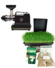 Solostar-3C-Electric-Multipurpose-Juicer-By-Tribest-Bundle-Includes-Manual-Juicer-Conversion-Organic-Wheatgrass-Growing-Kit-Solo-Star-IIIC-Juice-Machine-0