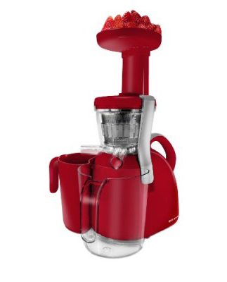Nutritionally Beneficial Slow Juicer, Red