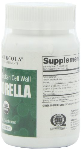 Organic Broken Cell Wall Chlorella 1 Bottle