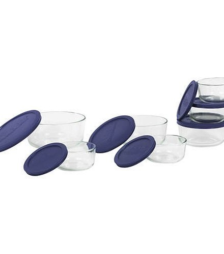 Pyrex-6022369-Storage-14-Piece-Round-Set-Clear-with-Blue-Lids-0