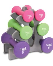 Tone-Fitness-Hourglass-Dumbbell-Set-20lb-0