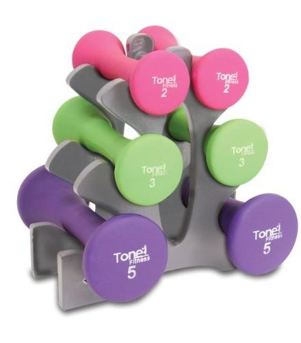 Tone-Fitness-Hourglass-Dumbbell-Set-20lb-0
